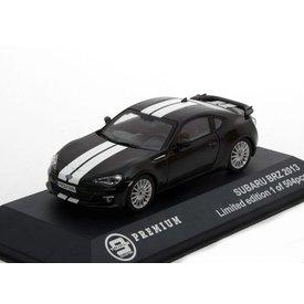 Triple9 Collection | Modelauto Subaru BRZ 2013 zwart met witte strepen 1:43