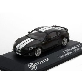 Triple 9 Collection Subaru BRZ 2013 black with white stripes - Model car 1:43