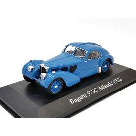 Atlas Bugatti Type 57SC Atlantic 1938 blauw - Modelauto 1:43