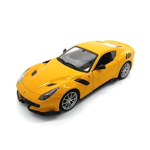 Modelauto Ferrari F12 tdf geel 1:24