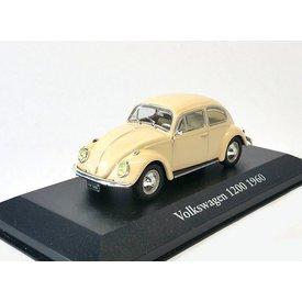 Atlas Volkswagen VW Kever 1200 1960 creme - Modelauto 1:43