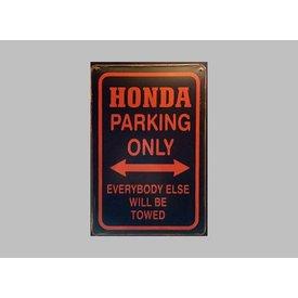 Parking Sign Honda 20x30 cm zwart / rood