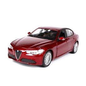 Bburago | Modelauto Alfa Romeo Giulia 2016 rood metallic 1:24
