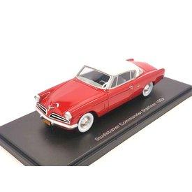 BoS Models (Best of Show) Studebaker Commander Starliner 1953 rot/weiß - Modellauto 1:43