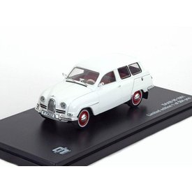 Triple 9 Collection Saab 95 1961 wit - Modelauto 1:43