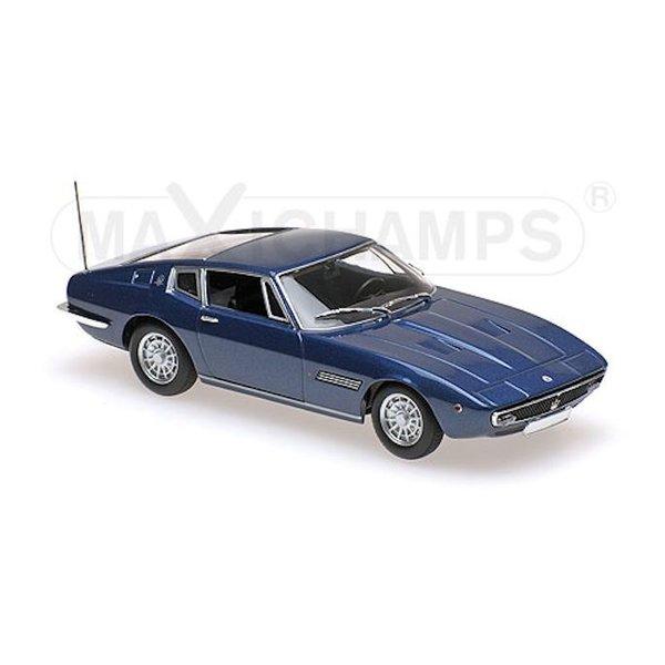 Modelauto Maserati Ghibli Coupe 1969 donkerblauw 1:43