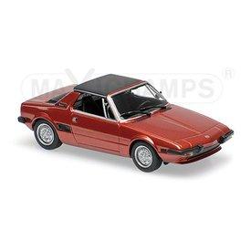 Maxichamps Fiat X1/9 1974 rood metallic 1:43