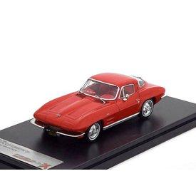 Premium X Chevrolet Corvette C2 Stingray 1964 rood - Modelauto 1:43