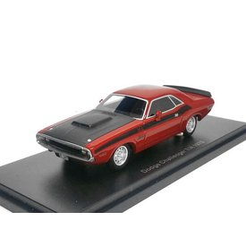 BoS Models (Best of Show) Dodge Challenger T/A 1970 rood/zwart - Modelauto 1:43