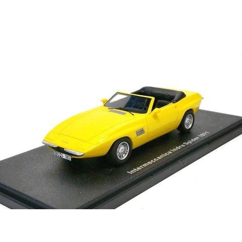 Intermeccanica Indra Spider 1971 geel - Modelauto 1:43