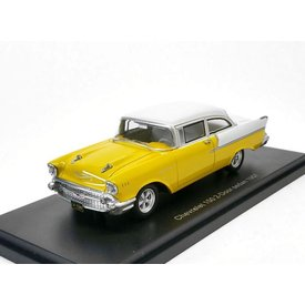 BoS Models Chevrolet 150 2-door Sedan 1957 yellow/white - Model car 1:43