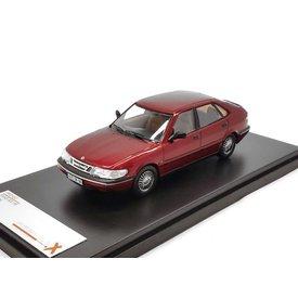 Premium X Saab 900 V6 1994 bordeauxrood - Modelauto 1:43