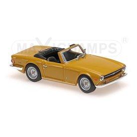 Maxichamps Triumph TR6 1968 oranje - Modelauto 1:43