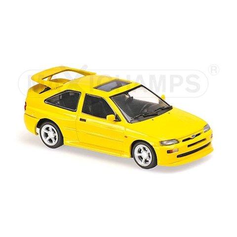 Ford Escort Cosworth 1992 geel - Modelauto 1:43