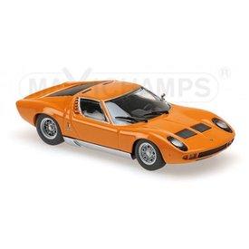 Maxichamps Lamborghini Miura 1966 oranje - Modelauto 1:43