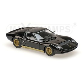 Maxichamps Lamborghini Miura 1966 black - Model car 1:43