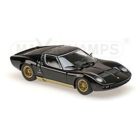 Maxichamps Lamborghini Miura 1966 zwart - Modelauto 1:43