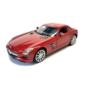Welly Mercedes Benz SLS AMG rood - Modelauto 1:24