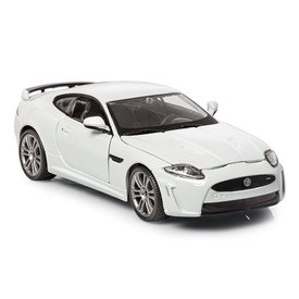 Bburago Jaguar XKR-S white - Model car 1:24