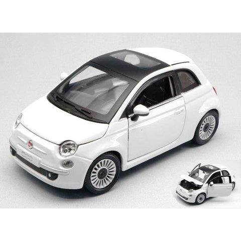 Fiat 500 2007 weiß - Modellauto 1:24