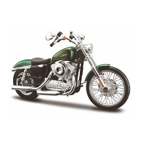 Harley-Davidson XL1200V Seventy Two 2012 green - Model motorcycle 1:12
