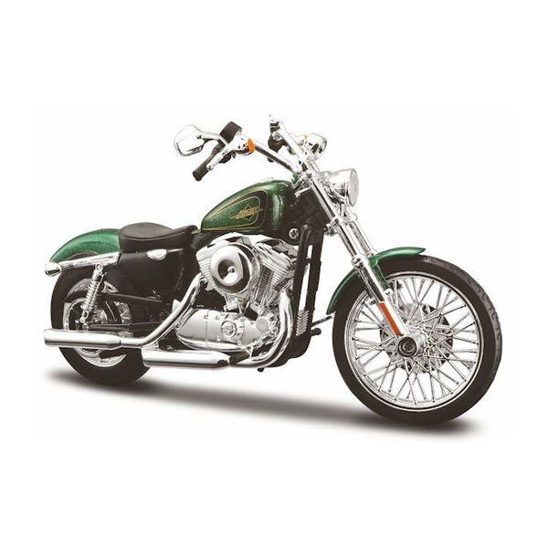Modell-Motorrad Harley Davidson XL1200V 72 2012 grün 1:12