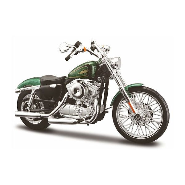 Modell-Motorrad Harley-Davidson XL1200V Seventy Two 2012 grün 1:12