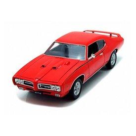 Welly Pontiac GTO 1969 rood - Modelauto 1:24