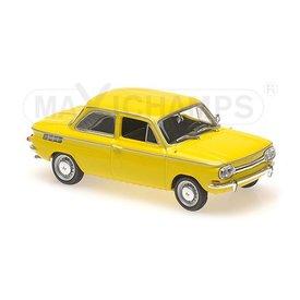 Maxichamps NSU TT 1967 geel - Modelauto 1:43