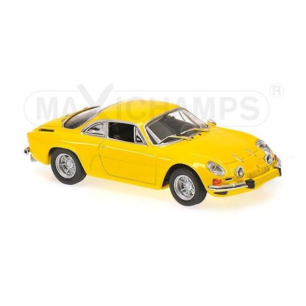 Modelauto Renault Alpine A110 1971 geel 1:43   Maxichamps