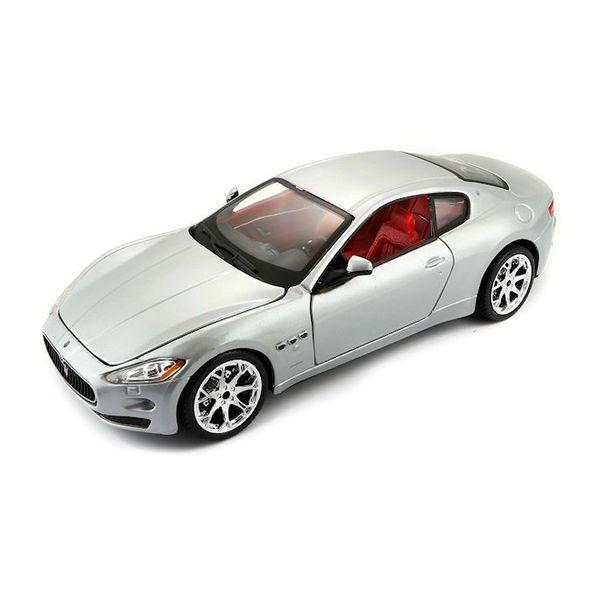 Modelauto Maserati GranTurismo zilver 1:24