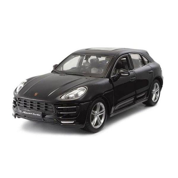 Modelauto Porsche Macan zwart 1:24