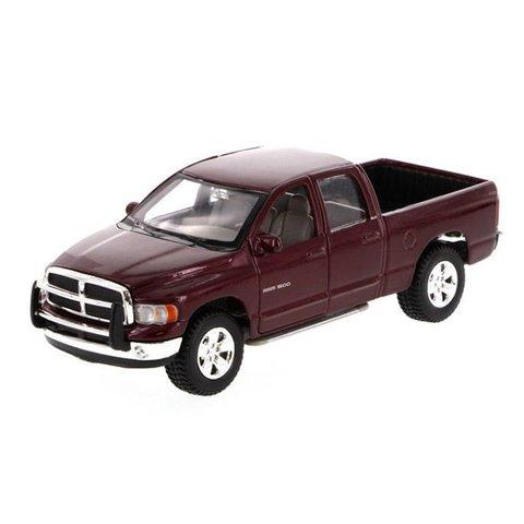 Dodge Ram Quad Cab 2002 donkerrood - Modelauto 1:27