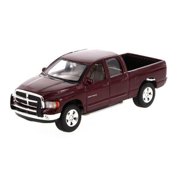 Model car Dodge Ram Quad Cab 2002 dark red 1:27   Maisto