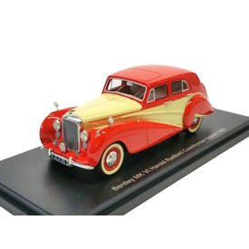 BoS Models (Best of Show) Bentley Mk VI 1951 rood/creme - Modelauto 1:43