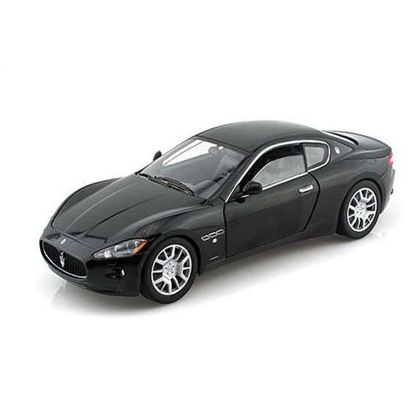 Modelauto Maserati GranTurismo zwart 1:24 | Motormax