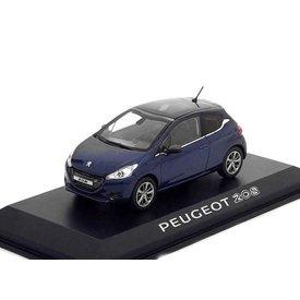 Norev Peugeot 208 donkerblauw - Modelauto 1:43