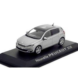 Norev Peugeot 308 grijs metallic 1:43