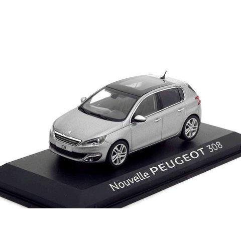 Peugeot 308 grijs metallic 1:43