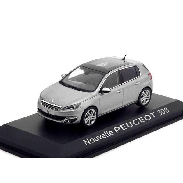 Modelauto Peugeot 308 grijs metallic 1:43