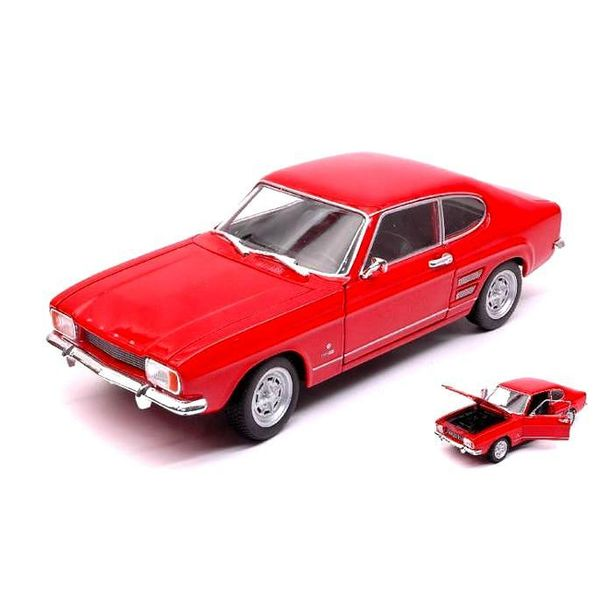Model car Ford Capri 1969 red 1:24