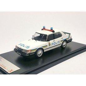 Premium X Saab 900i Polis 1987 wit 1:43