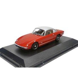 Oxford Diecast Lotus Elan +2 rood/zilver 1:43