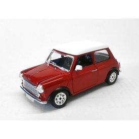 Bburago Mini Cooper 1969 red/white - Model car 1:24