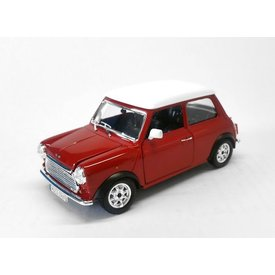 Bburago Modelauto Mini Cooper 1969 rood/wit 1:24   Bburago