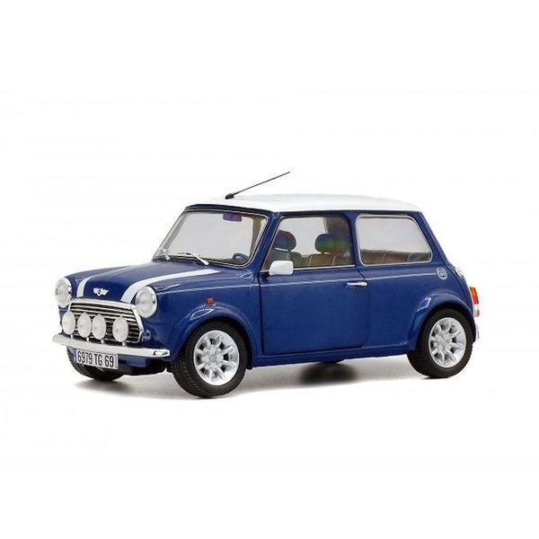 Spiksplinternieuw Modelauto Mini Cooper 1.3i Sport Pack blauw/wit 1:18 Solido QL-28