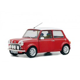 Solido Mini Cooper 1.3i Sport Pack  rood/wit - Modelauto 1:18