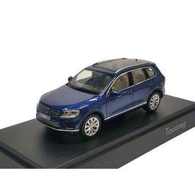 Herpa Volkswagen VW Touareg 2015 donkerblauw - Modelauto 1:43
