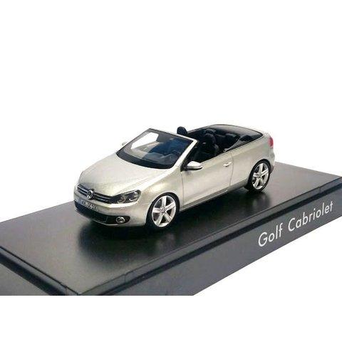 Volkswagen Golf Cabriolet 2012 zilver - Modelauto 1:43
