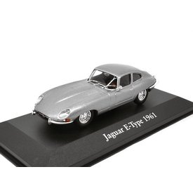 Atlas Jaguar E-type Coupe 1961 grijs metallic - Modelauto 1:43